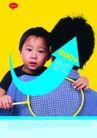 趣味生活0078,趣味生活,版式设计,小男孩 蓝衬衣 羽毛球拍