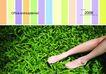 运动0086,运动,版式设计,草地  赤脚  绿色