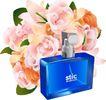 其他纪念日0019,其他纪念日,节日喜庆,香水 瓶子 一束鲜花