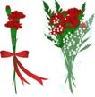 其他纪念日0021,其他纪念日,节日喜庆,对比色 红花 绿叶