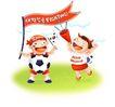 其他纪念日0053,其他纪念日,节日喜庆,足球 喇叭筒 彩旗