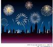 其他节日0011,其他节日,节日喜庆,烟花 庆祝 夜空