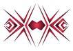 图纹0152,图纹,节日喜庆,纹身 红色 角度