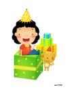 生日0005,生日,节日喜庆,坐卧 礼盒 尖帽
