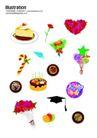 礼物0019,礼物,节日喜庆,蛋糕 盘子 心形