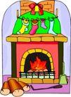 礼物0030,礼物,节日喜庆,长筒袜 壁炉 惊喜