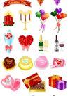礼物0034,礼物,节日喜庆,圆形气球 红色蜡烛 红酒