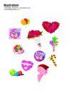 礼物0036,礼物,节日喜庆,彩色气球 棒棒糖 两束玫瑰花