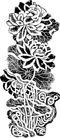竹子荷花植物0027,竹子荷花植物,节日喜庆,刺绣 绘画 印刷