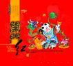 古典中国0035,古典中国,精品广告设计,开门红 生意兴隆 送财童子