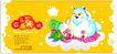 古典中国0075,古典中国,精品广告设计,动物贺卡 可爱小动物 欢乐天地