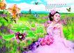 吊旗0033,吊旗,精品广告设计,春韵 满山彩蝶 美丽新娘