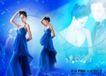 浪漫柔情模板20077,浪漫柔情模板2,浪漫柔情模板,蓝色氛围 头靠头 吊带纱裙