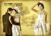 浪漫柔情模板30086,浪漫柔情模板3,浪漫柔情模板,白色衣服 男女 修长身材