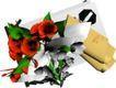 户型家具0070,户型家具,地产设计师,玫瑰 纸张 绿叶