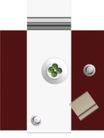 户型家具0072,户型家具,地产设计师,家居世界 大红台子 盘子