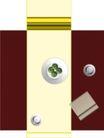 户型家具0073,户型家具,地产设计师,白碟子 米黄餐桌布 水果