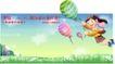 企业人物0032,企业人物,人物,氢气球 飞天女孩 绿草野花