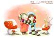 儿童友谊0006,儿童友谊,人物,围巾 缠绕 彼此