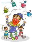 儿童学校0004,儿童学校,人物,小丑 杂耍 抛掷