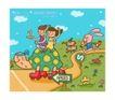 儿童学校0007,儿童学校,人物,乌龟 兔子 赛跑