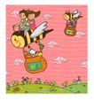 儿童学校0011,儿童学校,人物,蜂蜜 蜜蜂 风车