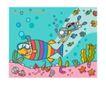 儿童学校0012,儿童学校,人物,潜水员 贝壳 海洋