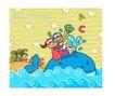 儿童学校0015,儿童学校,人物,鲸鱼 知识海洋 英语课