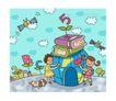 儿童学校0021,儿童学校,人物,单纯 过家家 字母