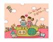 儿童学校0025,儿童学校,人物,收音 学校 玩具