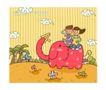 儿童学校0026,儿童学校,人物,大象 游玩 森林