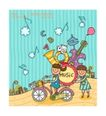 儿童学校0027,儿童学校,人物,音乐 单车 美妙