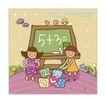 儿童学校0028,儿童学校,人物,数学 加法 做题