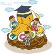 儿童学校0038,儿童学校,人物,蛋壳小鸡 博士帽 三个好伙伴