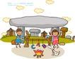 儿童学校0047,儿童学校,人物,野营 篝火 烧烤