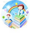 儿童校园生活0009,儿童校园生活,人物,跨越 知识 海洋