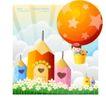 儿童校园生活0024,儿童校园生活,人物,童趣 降落伞 飞翔