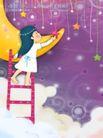 儿童梦幻0001,儿童梦幻,人物,搭梯 摘取 星星
