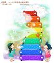 儿童梦幻0005,儿童梦幻,人物,彩色 云梯 敲击