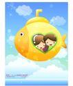 儿童生活0011,儿童生活,人物,飞翔 鱼形飞机 眼睛