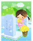 儿童生活0023,儿童生活,人物,纪念 懂事 鲜花