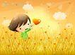 儿童生活0028,儿童生活,人物,摘取 爱心 触碰
