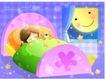儿童生活0034,儿童生活,人物,熟睡的女孩 小熊玩具 月亮婆婆