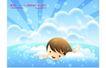 儿童生活0035,儿童生活,人物,游泳男孩 蓝蓝的水 梦幻童年