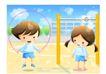 儿童生活0039,儿童生活,人物,操场 单杆 跳绳男孩