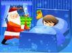 儿童生活0042,儿童生活,人物,圣诞 老人 送礼