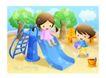 儿童生活0049,儿童生活,人物,幼儿园 玩乐 滑下