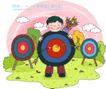 儿童科技0020,儿童科技,人物,中心 箭靶 射箭