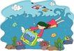 儿童科技0023,儿童科技,人物,海底世界 电视 花裙子