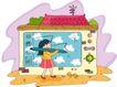 儿童科技0024,儿童科技,人物,动物 绘画 写字